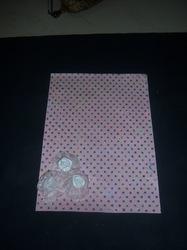 Glitter Print Scrapbook Paper with Organza Roses