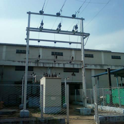 Double Pole Structure : Substation  kv pole manufacturer from