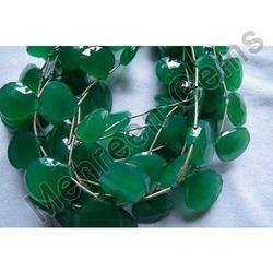Green Onyx Heart Briolette