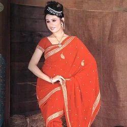 Crepe Designer Saree