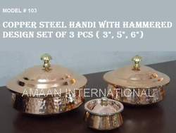 Lagan Copper Handi with Lid