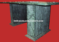 Green Marble Table Base
