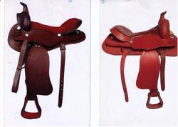 Embossed Western Saddle With Sueede & Softy