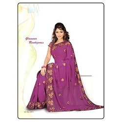 Purple Colored Saree