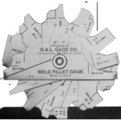 G.A.L. Fillet Weld Gauge