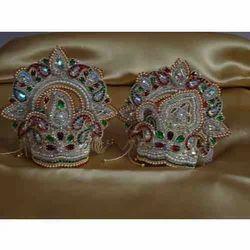 Radha Krishna Embroided Mukut