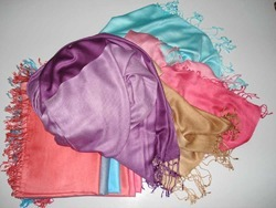 100 Viscose Plain Pashmina Shawl
