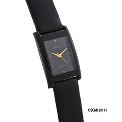 Men's Square Black Dial Watch