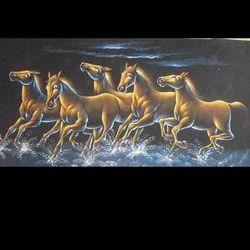 Running Horses Velvet Painting
