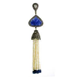 Natural Pearl Diamond Tassel Pendant