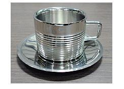 Stainless Steel DW Baleno Cup & Saucer