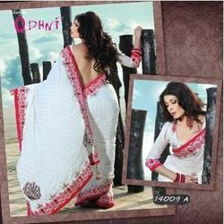 Charismatic Off White Saree