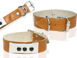 High Quility Two Layer Leather Dog Collar (L025C)
