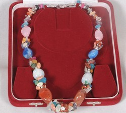 Multi-coloured Tumbled Stone Necklace