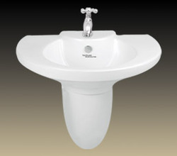 wash basin clipper with half pedestal