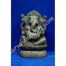 Wooden Antique Ganesha Ji With Stand