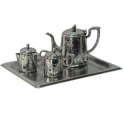 Tea Set 4cc Hammered