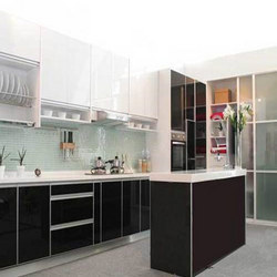 Modular Kitchen Designer - Solid Wood Kitchen, Straight Line