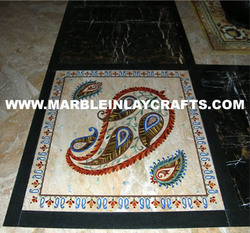 Marble Inlay Flooring And Medallions