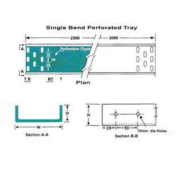 single bend perforated cable trays