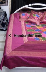 Beautiful Ethnic Hand Embroidered Bedding Set