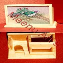 Wooden Mobile Phone Cum Pen Holder