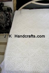New Embroidered Applique Work Handcrafted Bedsheets
