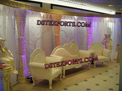 Latest Asian Wedding Stage Sofa Set