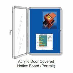 Acrylic Door Covered Notice Board (Portrait)