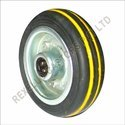 Cushion Tyre Caster Wheels with Yellow Lines