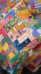 Indian Sari Patchwork Pillow