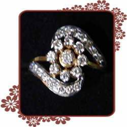 Floral Designer Finger Ring