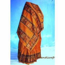 Orange Madhubani Sarees