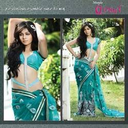 Net Based Lehnga Saree