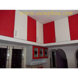 Kitchen Loft Red Color Design
