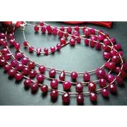 Genuine Red Ruby Faceted Tear Drops
