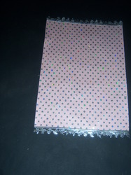 Glitter Printed Handmade Paper with Baby Trim