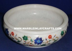 White Marble Inlay Bowls