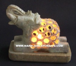 Decorative Soapstone Candle Holder