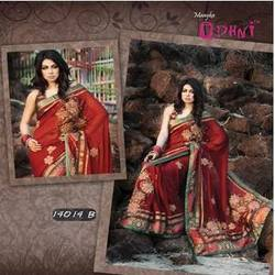 Stylish Maroon Saree