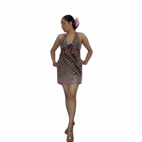 Georgette Smock Busted Short Dress