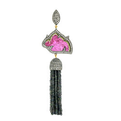 Pave Diamond Tassel Pendants