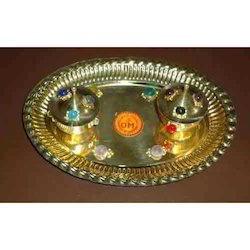 Brass Pooja Thali Set