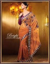 Stylish Cuts Work Sarees