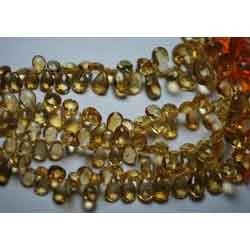 Golden Citrine Faceted Pear Briolettes