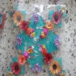 Rangoli Mats With Flower & Pearls