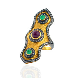 Gemstone Gold ring
