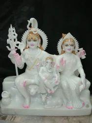 White Marble Shiva Parvati Statue