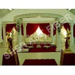 Wedding Six Pillars Fiber Mandap