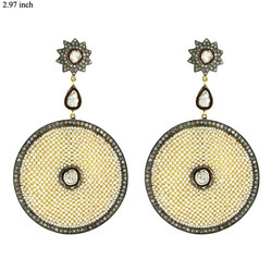 Precious Pearl Disk Earrings